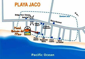 Jaco Beach Costa Rica Map