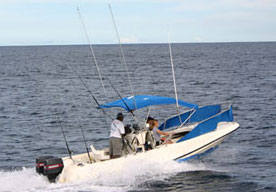 Boston Whaler Sport Fishing Boat in Tamarindo Costa Rica