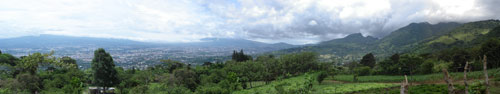 Webcam Panoramic View of San Jose Costa Rica and the Central Valley